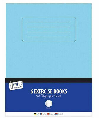 6 Pack Excercise Books Ruled 48 Pages Kids School Stationery Note Pad Set A5