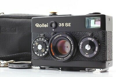 【MINT + Strap 】 Rollei 35 SE Sonnar 40mm f/2.8 BLACK 35mm Film Camera JAPAN #354