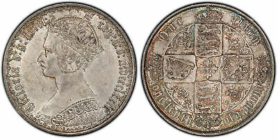 GREAT BRITAIN. Victoria 1872 AR Florin, Two Shillings. PCGS AU58 S-3893, Die #7.