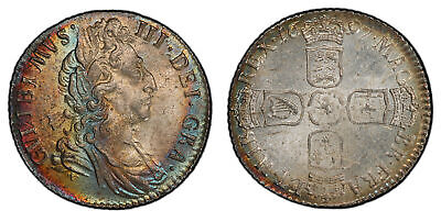 GREAT BRITAIN. England. William III 1697 AR Sixpence. PCGS MS63+ SCBC-3538.