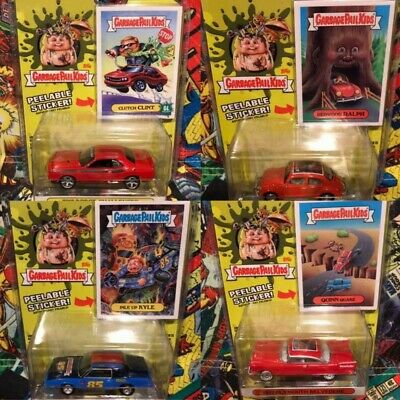 GARBAGE PAIL KIDS Green Light Model Car with Sticker 4 sets from Japan