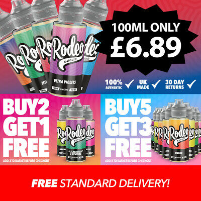 Rodeo Premium 100ml E Liquid High VG Vape Juice | Cheap E Juice | No Nicotine