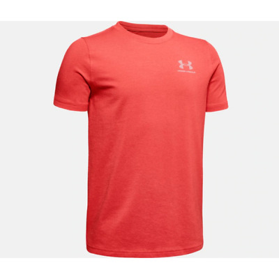 Under Armour EU Cotton Ss Crew Neck Short Sleeve T Shirt Junior Boys Red