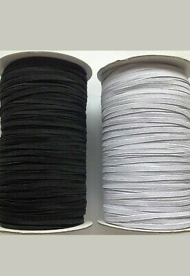 "FLAT WOVEN CORDED ELASTIC FOR WAIST,CUFFS SEWING DRESSMAKING 4""mm 6""mm 12""mm"