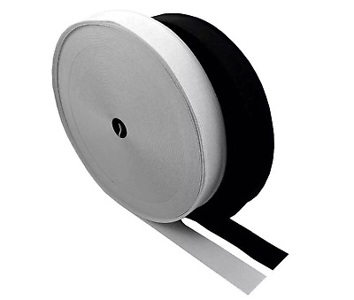"""3/4""""inch 2""""cm Flat Woven Quality Sewing Elastic  Black/White 25 Meters  Roll"""