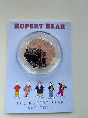 2020 Rupert Bear 50p, carded and Sealed, Isle of Man Coin. BUNC.