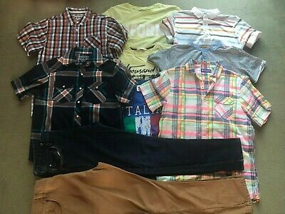 Quality Bundle Of Boys Clothes 12-14 Yrs - 10 Items - Jeans Tops Shirts