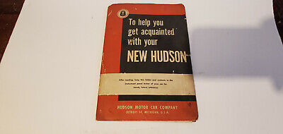 Vintage 1950 ? 1951 ? 1952 ? Hudson Owner's Manual w/ Folder and other Documents