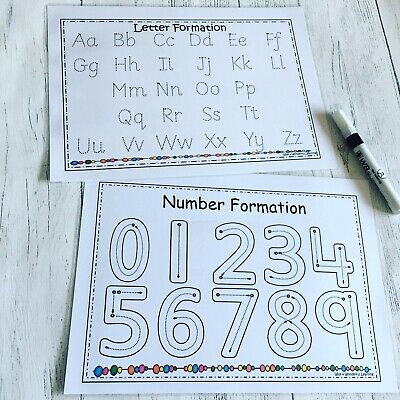 Tracing Alphabet And numbers, EYFS, Early Learning, pre school, Toddlers