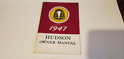 Vintage 1946 1947 Hudson Hornet ? Super Six ? Owner's Manual Great Condition