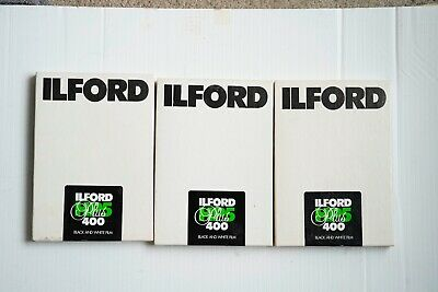 3 boxes (75 Sheets) of Ilford HP5 5x7 sheet film - ISO 400 - expired 7/2005
