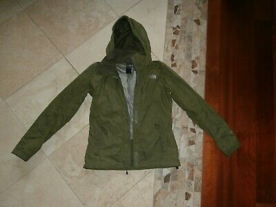 Womens THE NORTH FACE Olive Green MESH Lined WINDBREAKER Jacket SMALL