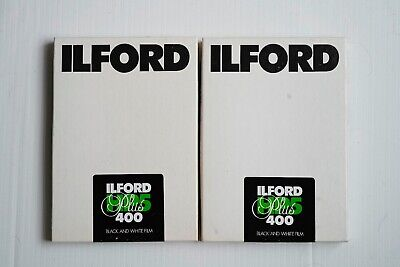 boxes (50 Sheets) of Ilford HP5 5x7 sheet film - ISO 400 - expired 7/2006