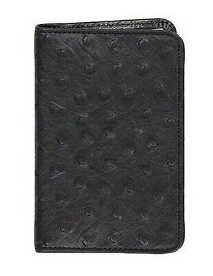 Scully Western Planner Ostrich Print Leather Notebook Black 1006B-0