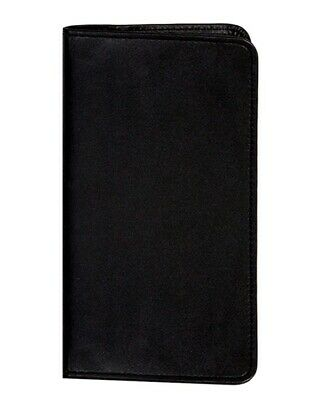 Scully Western Planner Soft Plonge Leather Weekly Pocket Black 1008-11