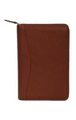 Scully Western Organizer Leather Zip Planner Pen Tobacco 5045Z-45