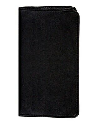 Scully Western Address Book Soft Plonge Leather Pocket Black 1108-11