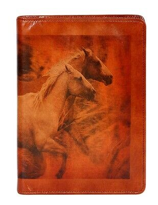 Scully Western Planner Pony Print Leather Journal Mahogany 1046R-16