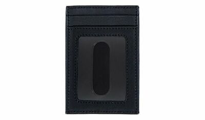 Scully Western Card Case Soft Plonge Leather ID Window Black 3001-11