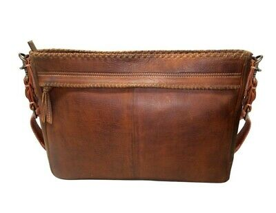 Scully Western Briefcase Work Bag Zip Organizing Pocket Brown 933-17
