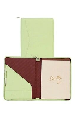 Scully Western Planner Soft Lamb Leather Zipper Pen Loop Mint 5012Z-01