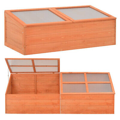 Wood Greenhouse Cold Frame Garden Flower Planting Box Growhouse Garden Plant