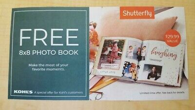 SHUTTERFLY 8 x 8 HARD COVER PHOTO BOOK CODE - EXPIRES 4/30/2020!!!