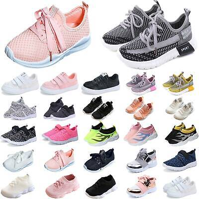Boys Girls Kids Trainers Breathable Pumps Sneakers Casual Athletic Running Shoes