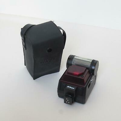 Nikon Speedlight SB-20 Shoe Mount Flash in Soft Leather Pouch- Working Condition