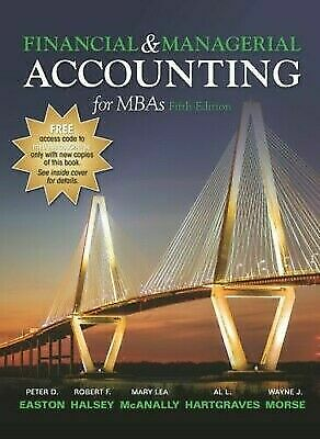Financial and Managerial Accounting for MBAs 5th Edition by Peter Easton - P.D.F