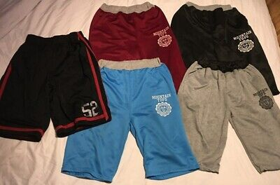5 Pairs of Mens Blue Grey Black Red GAP Reversible Summer Shorts Size Small S