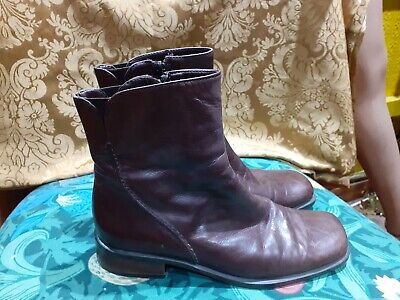 Brown Soft Leather Chelsea Boots Size 5 Riva