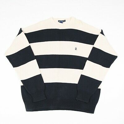 Vintage NAUTICA Thick Striped Jumper | Sweater Patterned Pattern Pullover Retro