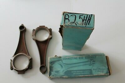 Vtg Lot 2 Nos Ford V8 Connecting Rod Assembly R25Hh Motor Machine San Diego Ca