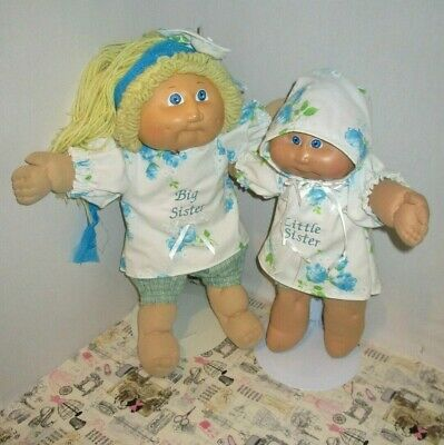 """Adorable Big Little Sisters Headband for 14 """" & 16"""" Cabbage Patch Dresses Blue"""