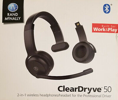 NEW - Rand McNally ClearDryve 50 Bluetooth 2 in 1 Wireless Headphones
