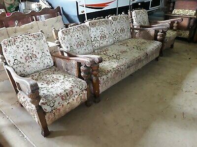 Antique Jacobean Lounge Suite.