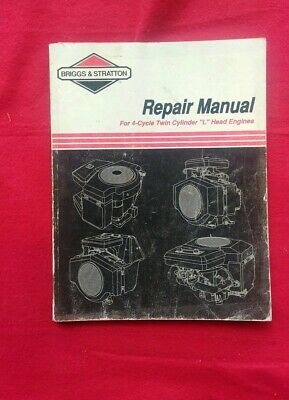 Briggs Stratton 4-Cycle Twin Cylinder L Head Engine Service Repair Manual