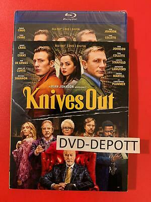 Knives Out Blu-ray + DVD + Digital HD &  Slipcover Brand New FAST Free Shipping