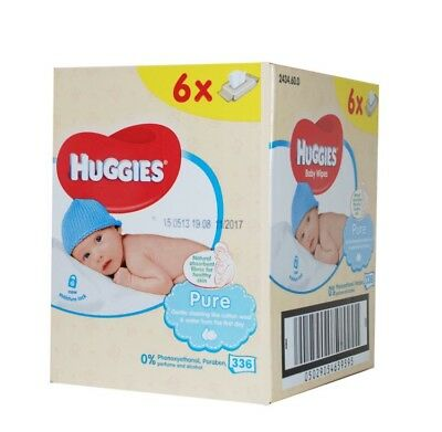 Pure Baby Wipes 6X56 (336 Wipes)