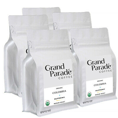 Grand Parade Organic Coffee: Colombian Medium Roast Supremo Coffee Beans 5/ 1lbs