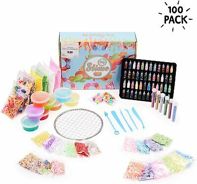 100 PCS Slime Making Kit  DIY Design Your Own Slime Fun Kids Indoor Activity Toy