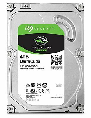 "Seagate BarraCuda 3.5 ""4TB internal hard disk HDD 6Gb / s 256MB ST4000DM004"