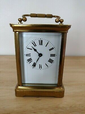 Antique French 8 day Duverdrey & Bloquel brass carriage clock