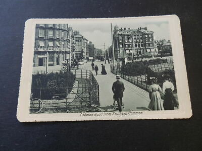 Edwardian Valentines Postcard..osbourne Road From Southsea Common, Southsea