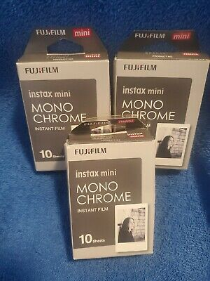 Fujifilm Instax Mini Mono Chrome Instant Film Black White 3 x 10 = 30 Sheets