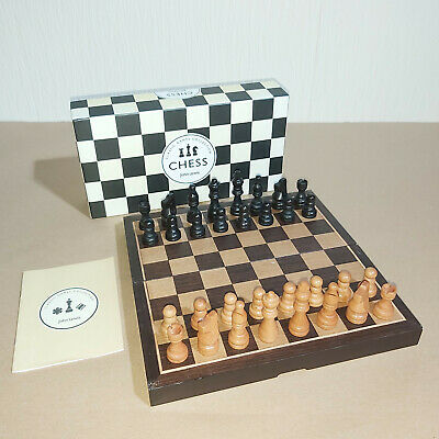 John Lewis Classic Games Collection Wooden Chess Set With Folding Board Boxed