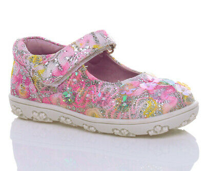 Girls Kids Childrens  Beaded Glitter Sequin Trainers Pumps Shoes Size 26