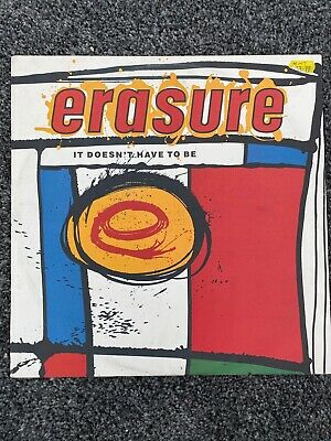 "ERASURE ~ It Doesnt Have To Be ~ 12"" Single PS"