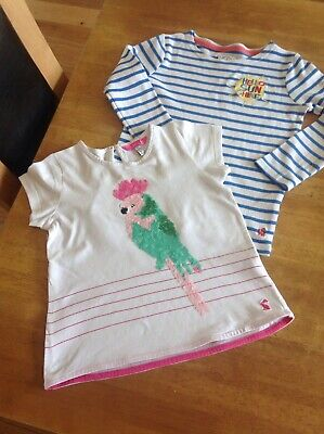 2 X Girls Summer Tshirts Tops Joules Age 6years Both In VGC